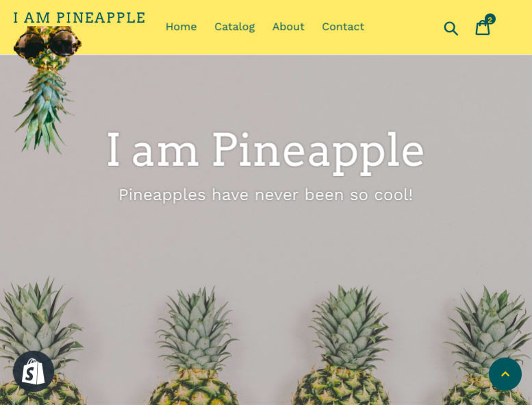 Thumbnail for the I am Pineapple website.